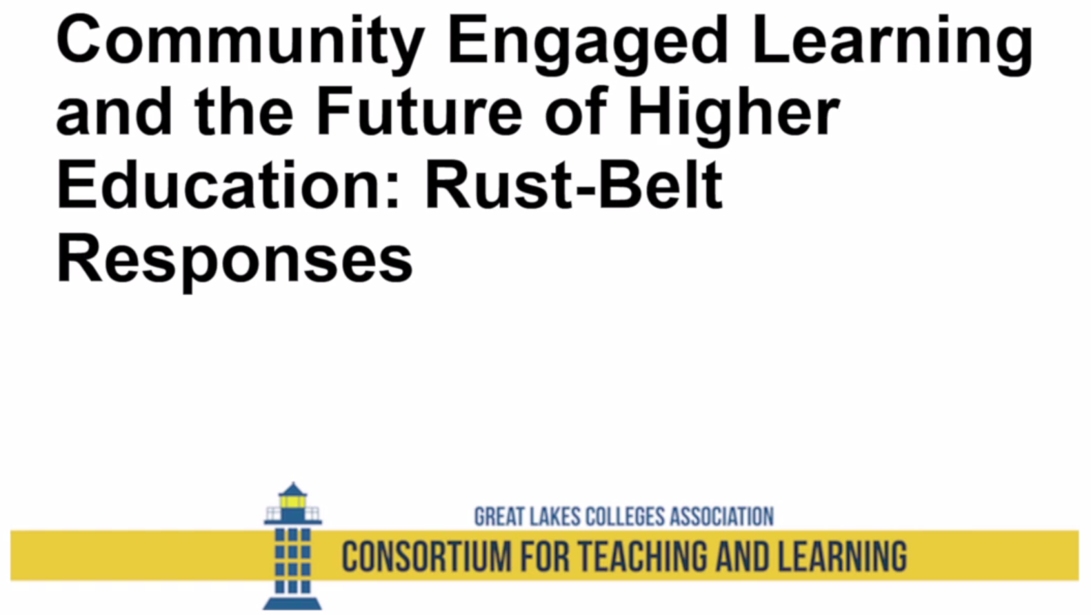 Community Engaged Learning: Rust Belt Narratives